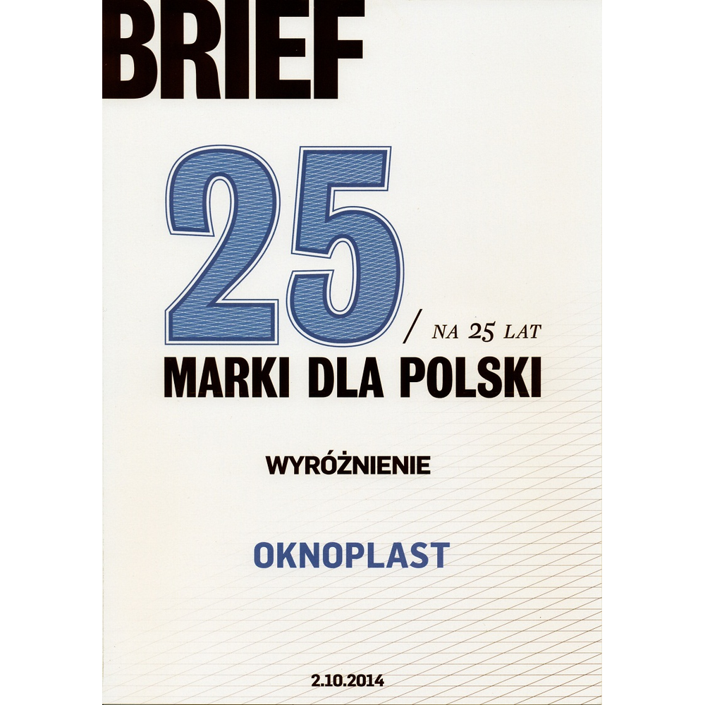 Oknoplast - a brand for Poland