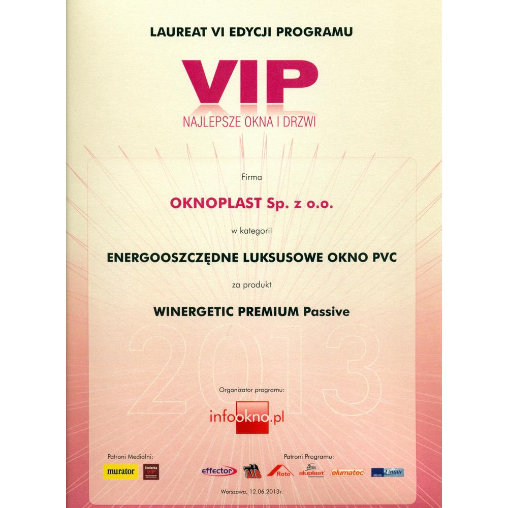 VIP Best Windows and Doors 2013 - energy-saving premium PVC window